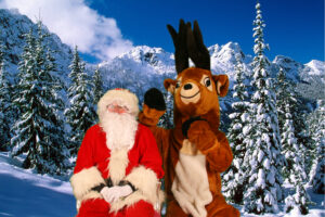 Père Noël en photomontage
