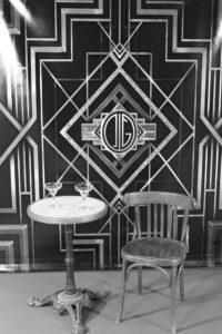 Table bistro ambiance Gatsby thème années folles
