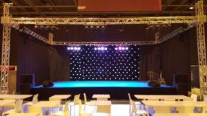 Rideau de scène et pendrillon à LED